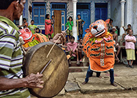 tiger dancer with drummer